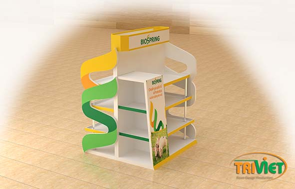 thiết kế sản xuất posm quầy kệ tphcm